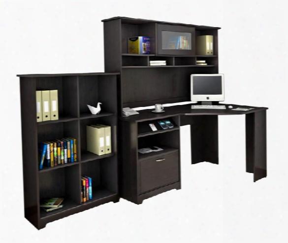 Corner Desk With Hutch And Bookcase By Bush