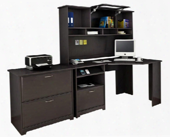Corner Desk With Hutch And Lateral File By Bush