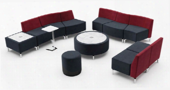 Curve Curve Straight Straight Configuration Lounge By Woodstock