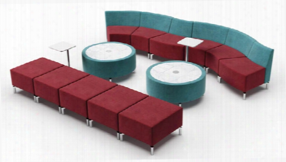 Curve Straight Configuration Lounge By Woodstock