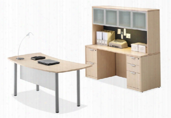 Desk With Credenza & Huch By Office Source