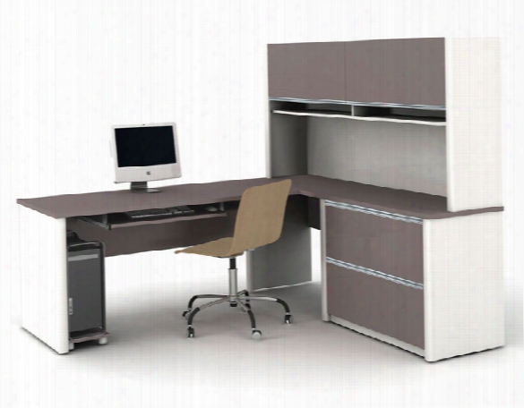 Desk With Hutch And Return 93867 By Bestar