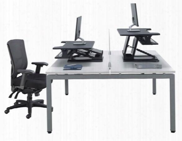 Double Desk Unit By Office Source