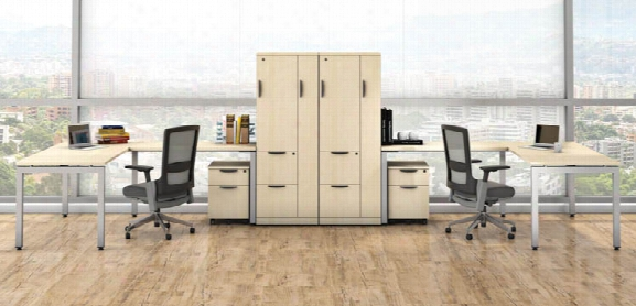 Double L Shaped Desk Units By Office Source
