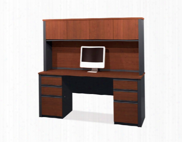 Double Pedestal Credenza With Hutch 99851 By Bestar