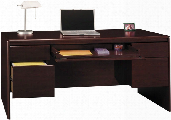 Double Pedestal Desk With Center Drawer By Bush