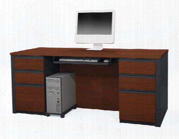 Double Pedestal Executive Desk 99850 By Bestar