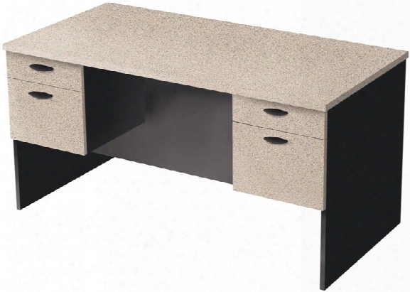 Double Pedestal Executive Desk By Bestar