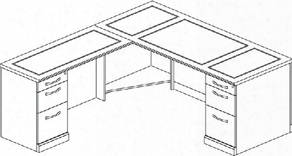 Double Pedestal L Shaped Desk By Mayline Office Furniture