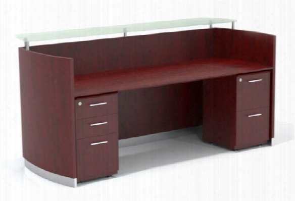 Double Pedestal Reception Desk By Mayline Office Furniture