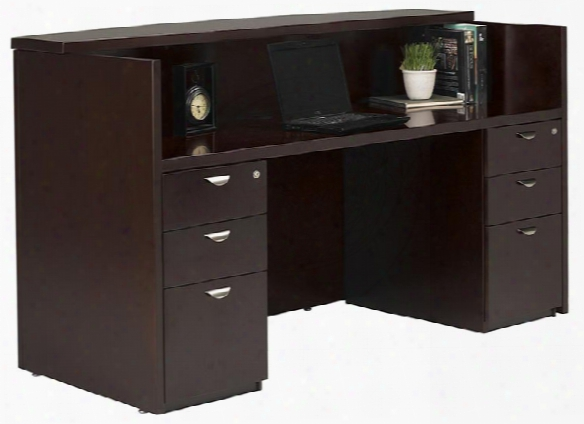 Double Pedestal Reception Station By Mayline Office Furniture