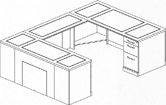 Double Pedestal U Shaped Desk By Mayline Office Furniture