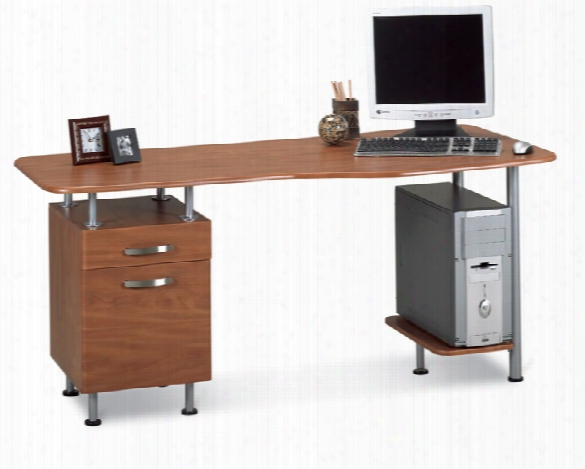 Espresso Pc Desk With File By Mayline Office Furniture