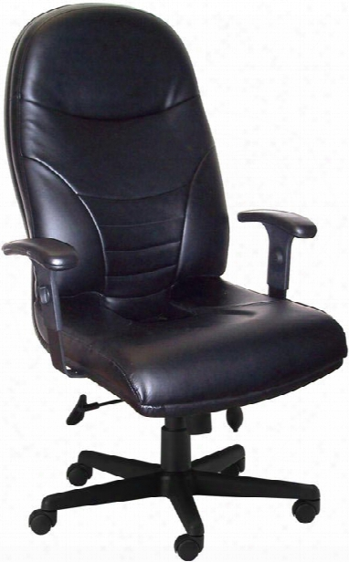 Executive High  Back Leather Chair By Mayline Office Furniture