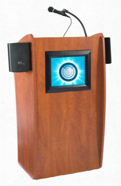 Floor Lectern With Sound And Digital Display By Oklahoma Sound