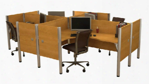 Four Person Workstation By Bestar