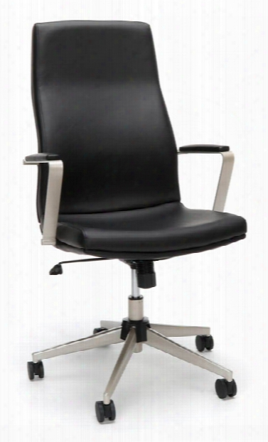 High Back Bonded Leather Manager Chair By Ofm