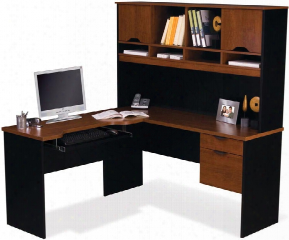 L Shaped Computer Work Station By Bestar