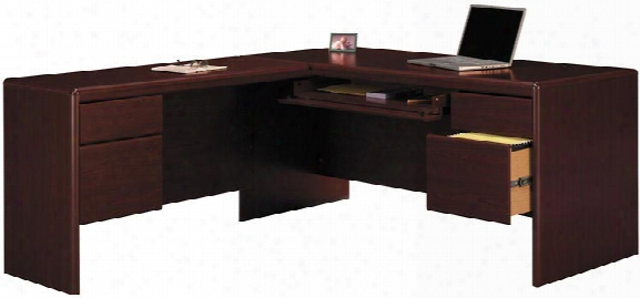 L Shaped Desk With Center Drawer By Bush