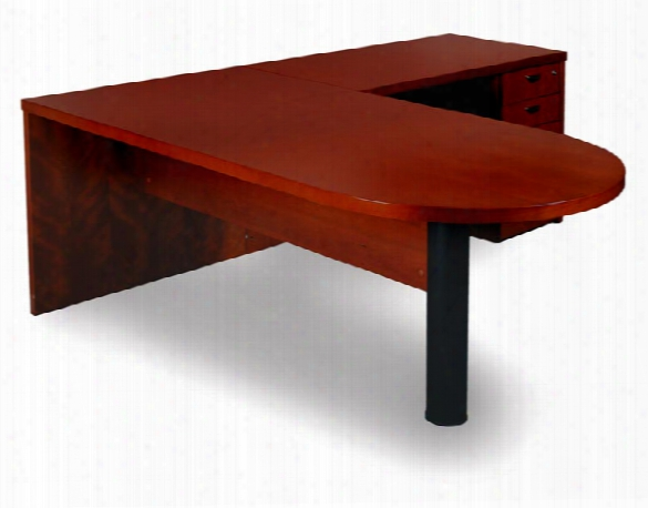 L Shaped Peninsula Desk By Mayline Office Furniture
