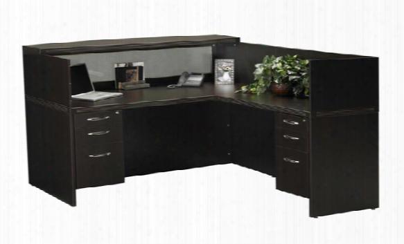 L Shaped Reception Desk By Mayline Office Furniture