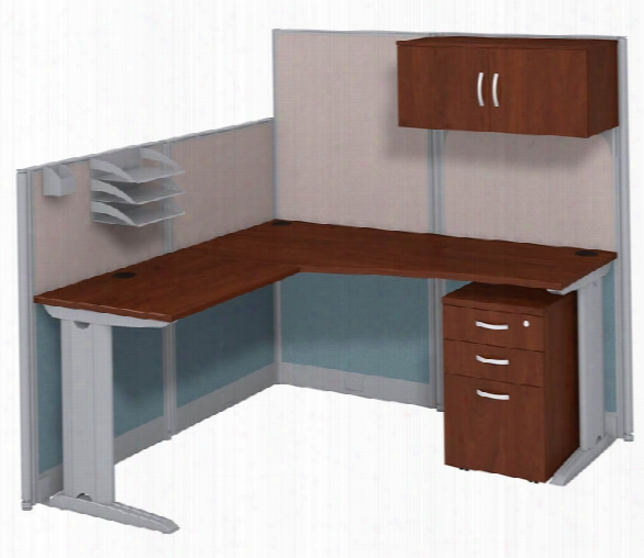 L Workstation With Storage By Bush