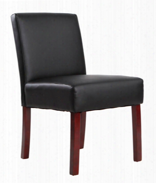 Leather Executive Guest Chair, Armless By Essentials