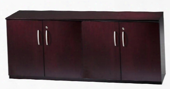 Low Wall Cabinet With Wood Doors By Mayline Office Furniture