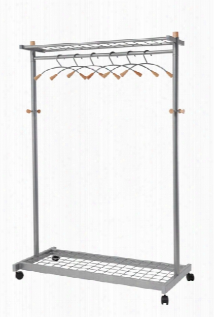 Lux Mobile Garment Rack By Alba
