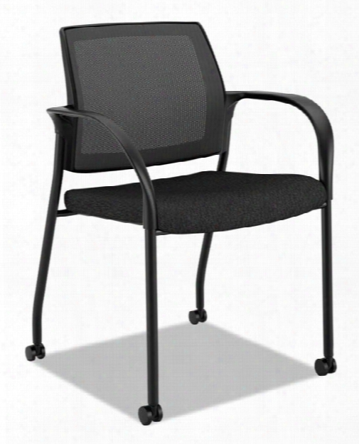 Mesh Back Mobile Stacking Chair By Hon