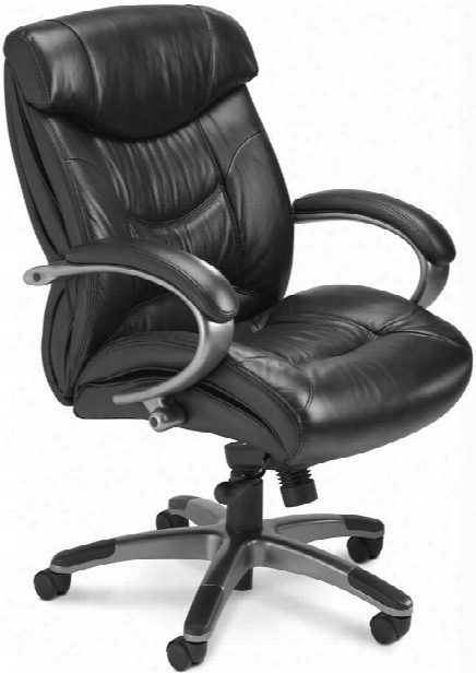 Mid Back Leather Chair By Mayline Office Furniture