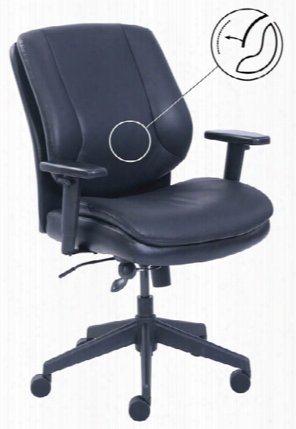 Mid Back Swivel Chair With Tilt-tension By Office Source