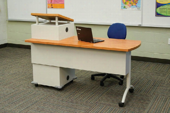 Mobile Podium Desk By Office Source