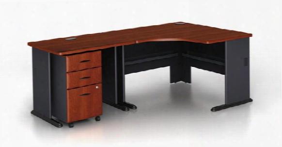 Modular Corner Desk With Pedestal By Bush