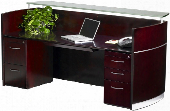 Napoli Double Pedestal Reception Station By Mayline Office Furniture