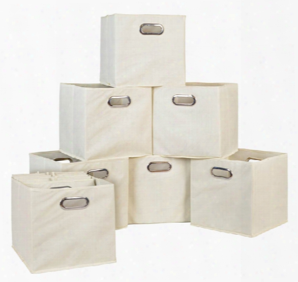 Niche Cubo Set Of 12 Foldable Fabric Storage Bins By Regency Furniture