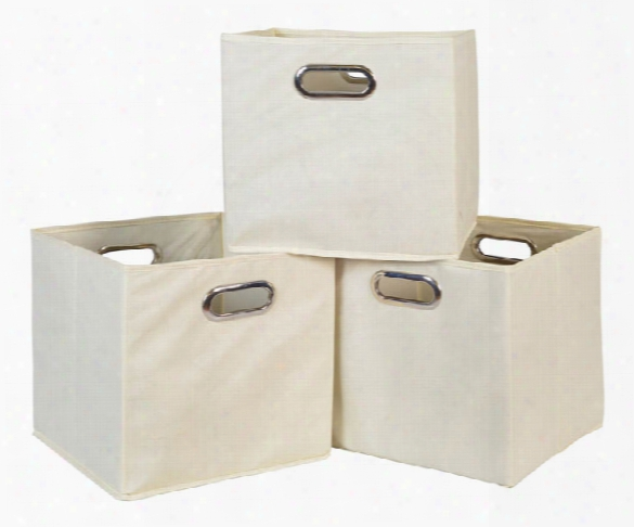 Niche Cubo Set Of 3 Foldable Fabric Storage Bins By Regency Furniture