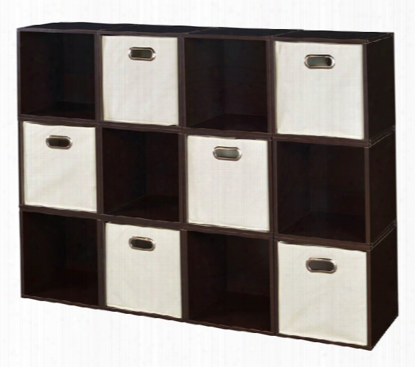 Niche Cubo Storage Set - 12 Cubes And 6 Canvas Bins By Regency Furniture