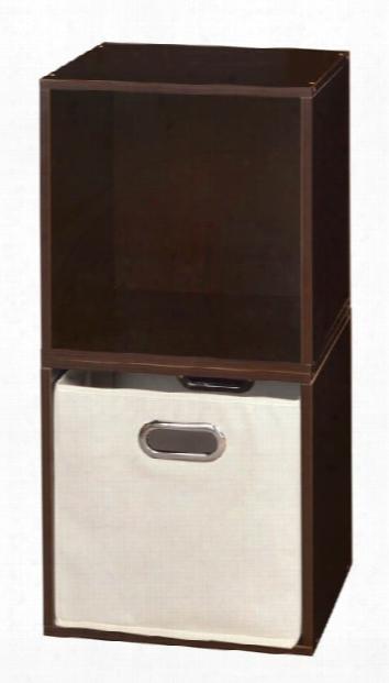 Niche Cubo Storage Set - 2 Cubes And 1 Canvas Bin By Regency Furniture