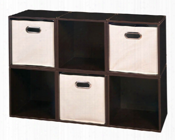 Niche Cubo Storage Set - 6 Cubes And 3 Canvas Bins By Regency Furniture