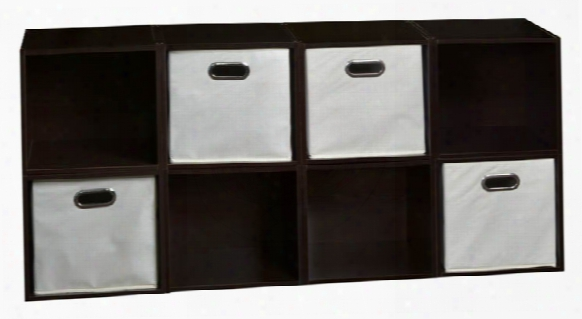 Niche Cubo Storage Set - 8 Cubes And 4 Canvas Bins By Regency Furniture