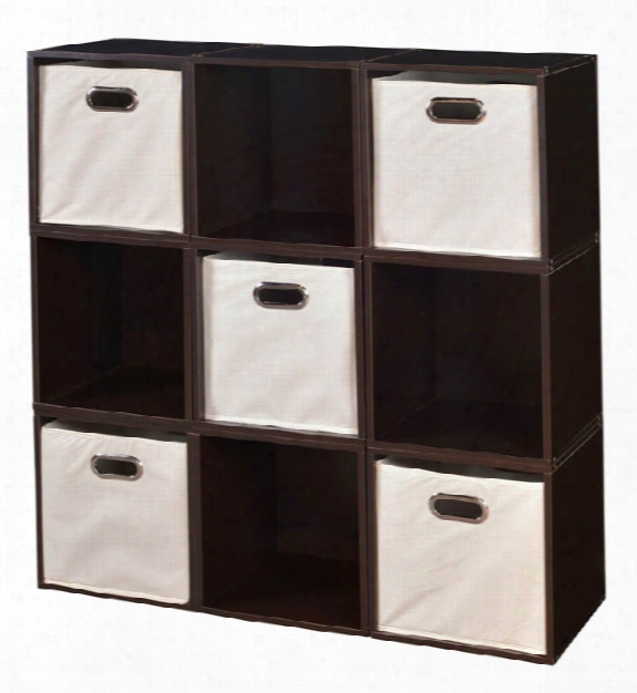 Niche Cubo Storage Set - 9 Cubes And 5 Canvas Bins By Regency Furniture