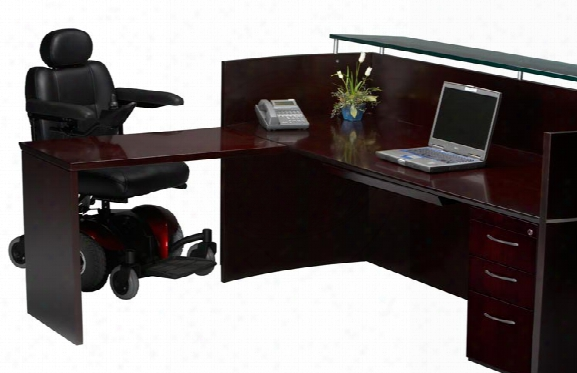 Reception Station With One Pedestal By Mayline Office Furniture