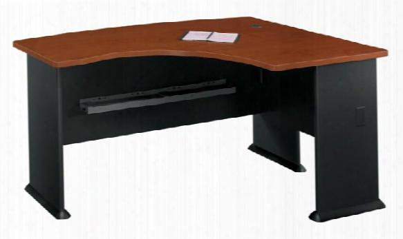 Right L Bow Desk By Bush