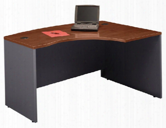 Right L Bow Front Desk Shell By Bush