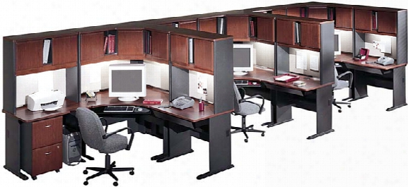 Set Of 3 Workstations By Bush
