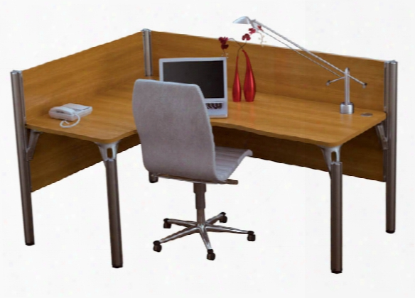 Single L Desk Workstation By Bestar