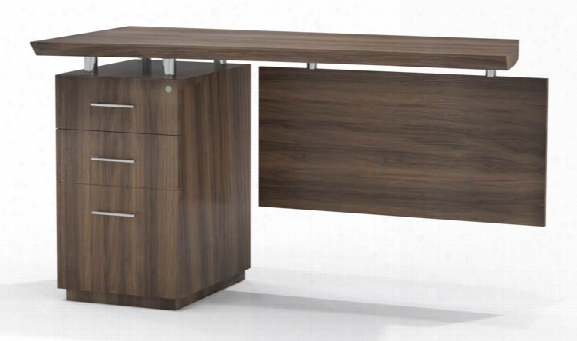 Single Pedestal Desk Return By Mayline Office Furniture