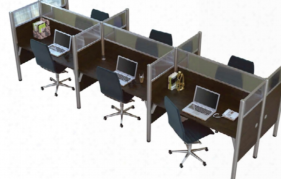 Six Person Telemarketing Workstation By Bes Tar