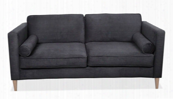 Sofa With 2 Bolster Cushions & Wood Post Legs By Office Source
